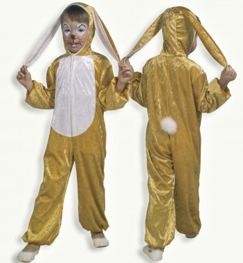 Hase - Overall - Gold-weiß - Kinder Kostüm - 1 Teil - Fries