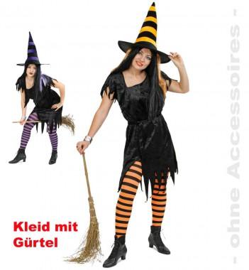 Hexe Alexis - Kleid+Gürtel - Kostüm - 2 Teile - Fries