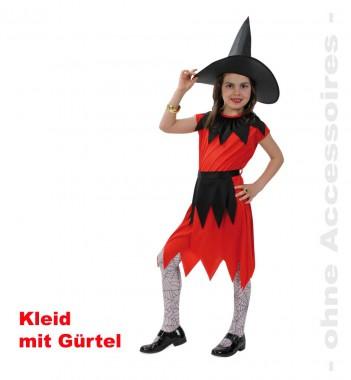 Hexe Pia - Kleid mit Gürtel - 1 Teil - Fries
