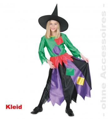 Hexe Violet - Kleid - Kinder Kostüm - 1 Teil - Fries