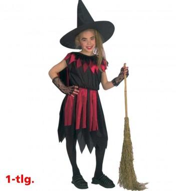 Hexe Walpurga - Kleid+Hut - Kinder Kostüm - 2 Teile - Fries