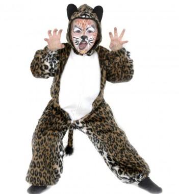 Overall Leo - Overall - Braun-schwarz-weiß - Kinder Kostüm - 1 Teil - Fries