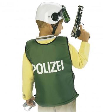 Polizeiweste - Weste - schwarz  - Kinder Kostüm - 1 Teil - Fries