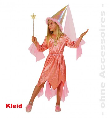 Märchenfee - Kleid - Orange-pink - Kinder Kostüm - 1 Teil - Fries