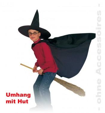 Zauberlehrling - Cape+Hut - Kinder Kostüm - 2 Teile - Fries