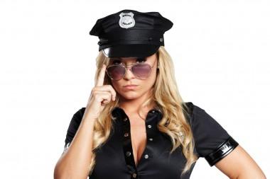 Polizeikappe - schwarz - Zubehör - 1 Teil - Rubie's