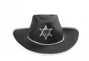 Schwarzer Cowboyhut mit Stern - Zubehör - 1 Teil - Rubie's