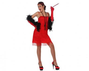 Charleston - rot - Kostüm - 2 Teile - Atosa