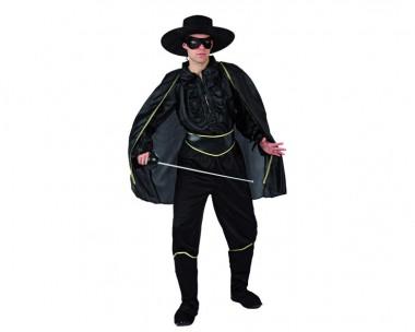 Bandit - Hemd+Hose+Zubehör - Schwarz - Kostüm - 5 Teile - Atosa