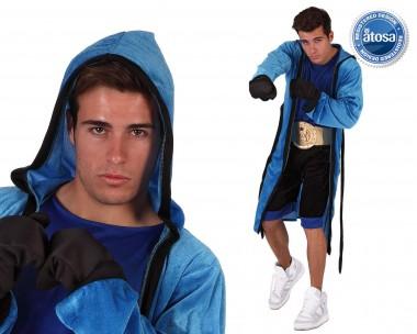 Boxer - Oberteil+Gürtel+Zubehör - Blau-Schwarz - Kostüm - 5 Teile - Atosa