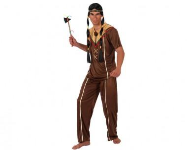 Indianer - Oberteil+Hose - Braun - Kostüm - 2 Teile - Atosa