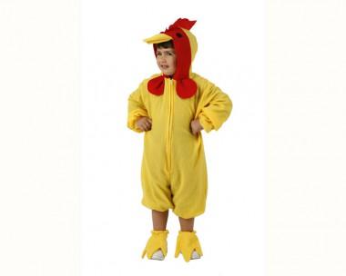 Küken - Strampler+Schuhüberzieher - Gelb-Rot - Kinder Kostüm - 2 Teile - Atosa