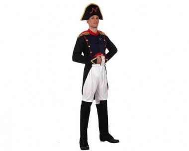 Napoleon - Oberteil+Hose+Hut - Blau-Rot-Weiß - Kostüm - 3 Teile - Atosa
