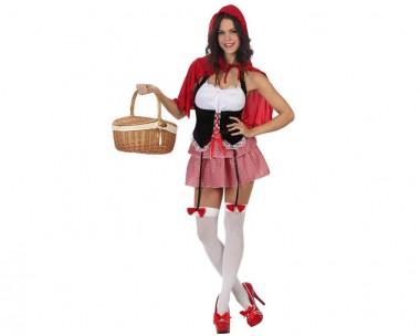 Rotkäppchen - Kleid+Umhang - Rot-Weiß-Schwarz - Kostüm - 2 Teile - Atosa