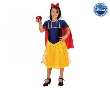 Schneewittchen - Kleid+Haarreif - Gelb-Blau-Rot - Kinder Kostüm - 2 Teile - Atosa