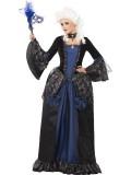 Barock-Dame - Kleid - blau/schwarz - Kostüm - 1 Teil - Smiffy's