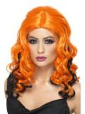 Sexy Hexe - Perücke - orange/schwarz - Perücken - 1 Teil - Smiffy's