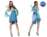 Winterfee - Kleid+Flügel+Zubehör - Blau - Kostüm - 5 Teile - Atosa