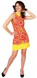 Crazy Disco Queen - Kleid - orange/gelb - Kostüm - 1 Teil - Orlob Karneval