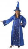 Zauberin - Kleid+Hut - Kostüm - 2 Teile - Rubie's